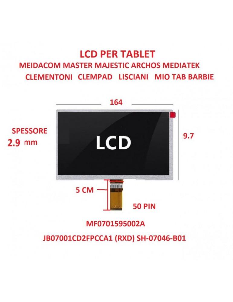 LCD per Tablet 7 Pollici MF0701595002A HD MEDIACOM M-MP720 M-MP721 flat JB07001CD2FPCCA1 (RXD) SH-07046-B01