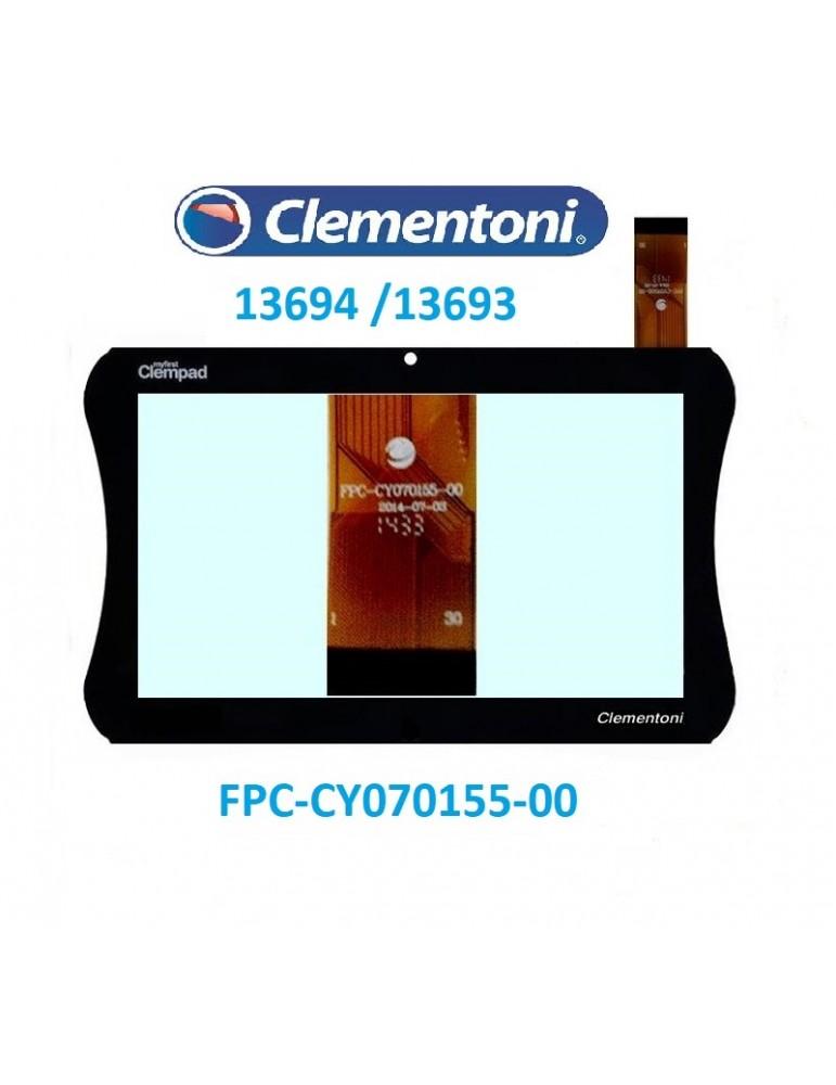 VETRO TOUCH SCREEN CLEMENTONI CLEMPAD 13693 -13694 FPC-CY070155-00 7 Pollici Nero FORO CENTRALE