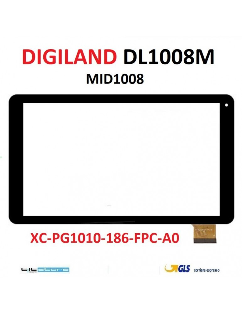 VETRO TOUCH SCREEN DIGILAND DL1008M FLAT XC-PG1010-186-FPC-A0 MID1008 50 PIN