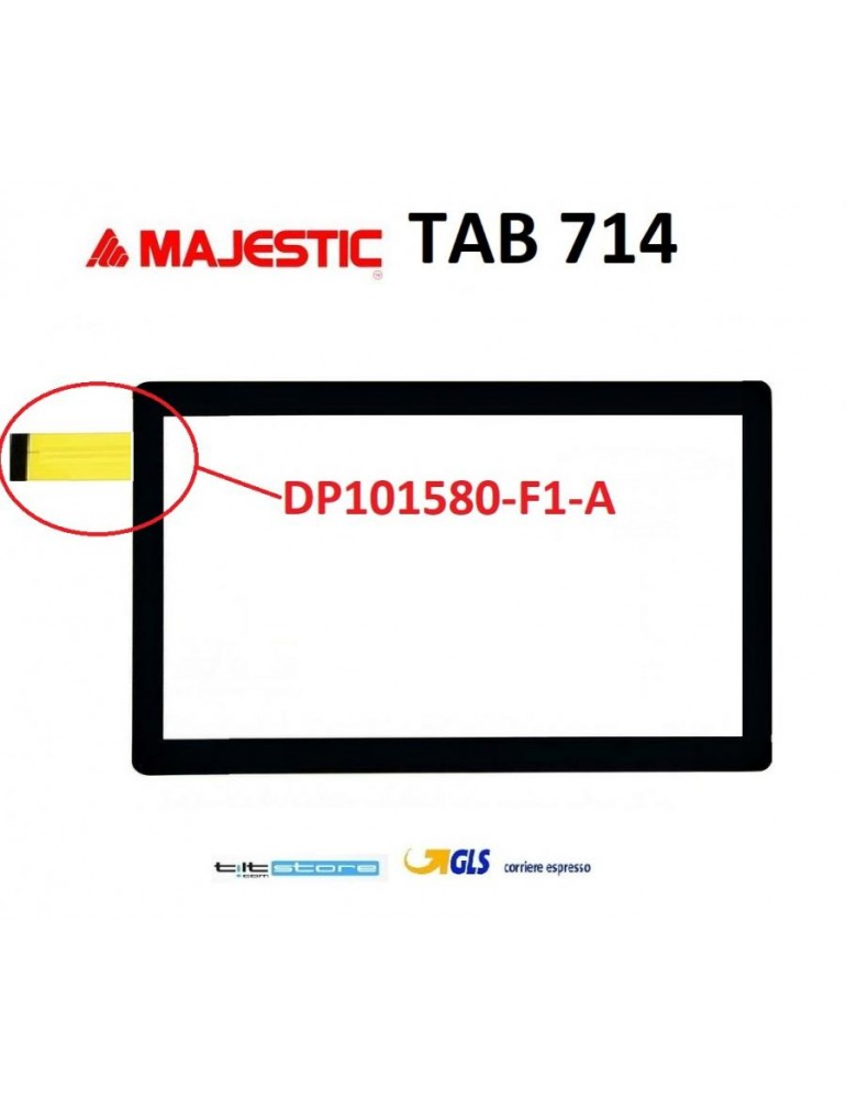 VETRO TOUCH SCREEN Majestic Tab 714 4g cod.flat  DP101580-F1-A NERO