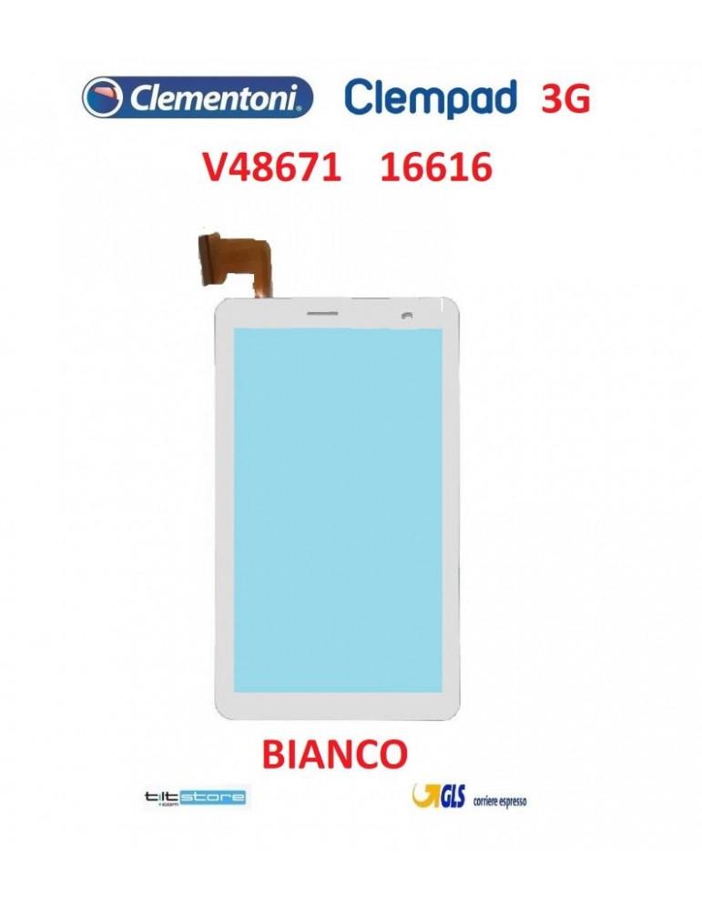 VETRO TOUCH SCREEN PER TABLET CLEMPAD 3G V48671 16616 FLAT CX19A-045-02