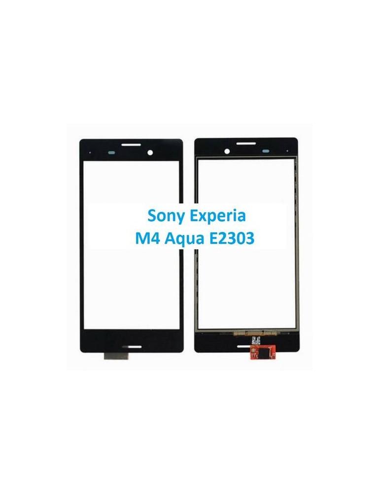 VETRO TOUCH SCREEN Sony Experia M4 Aqua E2303 NERO
