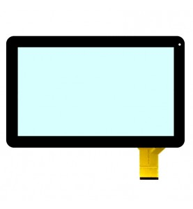 VETRO TOUCH SCREEN Telitaly cod flat dh-101a1-pg-fpc075 FPC100-014 Nero