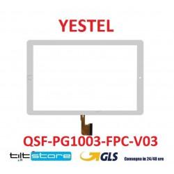VETRO TOUCH SCREEN YESTEL FLAT QSF-PG1003-FPC-V02
