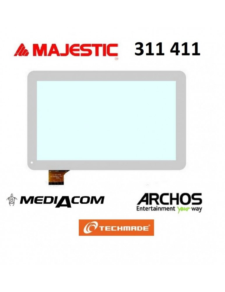 VETRO TOUCH SCREEN MAJESTIC TAB 411 3G TAB 311 BIANCO