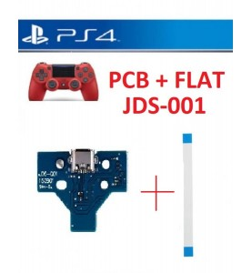 KIT FLAT+ CONNETTORE RICARICA JOYPAD PS4 JDS-001 PCB 14 PIN MICRO USB
