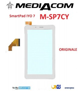 VETRO TOUCH SCREEN MEDIACOM M-SP7CY SMARTPAD IYO ORIGINALE BIANCO