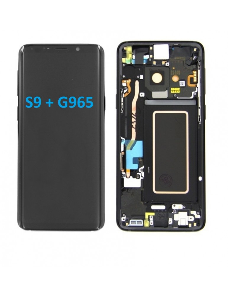 DISPLAY TOUCH LCD SAMSUNG S9 PLUS NERO S9+ SM-G965F ORIGINALE SERVICE PACK