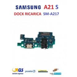 DOCK CONNETTORE RICARICA SAMSUNG A21s SM-A217 CON MICROFONO