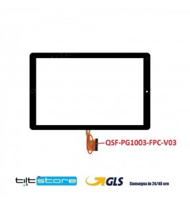VETRO TOUCH SCREEN FLAT QSF-PG1003-FPC-V03 NERO