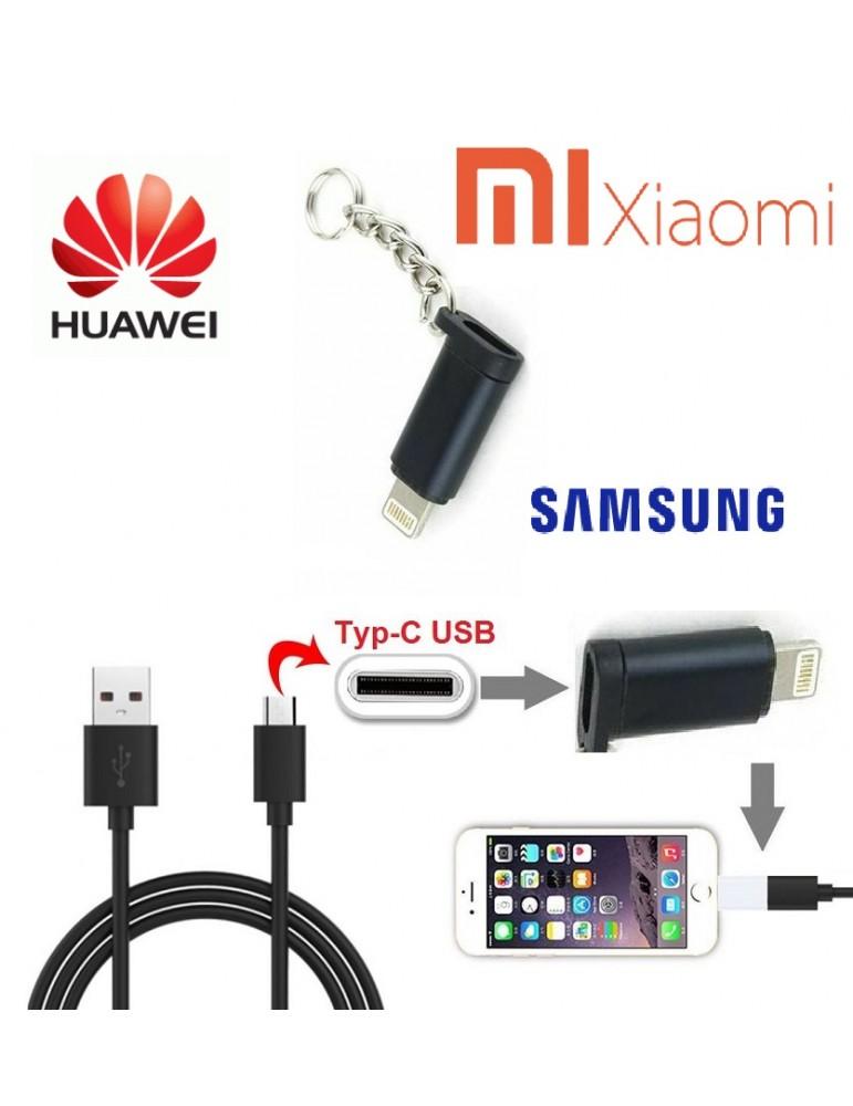 Adattatore da Type-C a iPhone per Cellulari Samsung & Huawei Xiaomi Apple Smart Phone