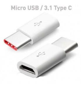 Adattatore USB Type-C a Micro USB Connettore ricarica microusb a tipo-c (Type C) Samsung & Huawei