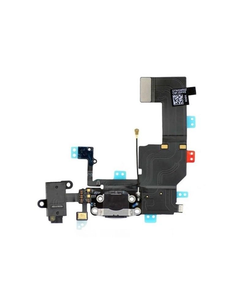 Flat Dock Ricarica Microfono Jack Audio Antenna iPhone 5C Nero