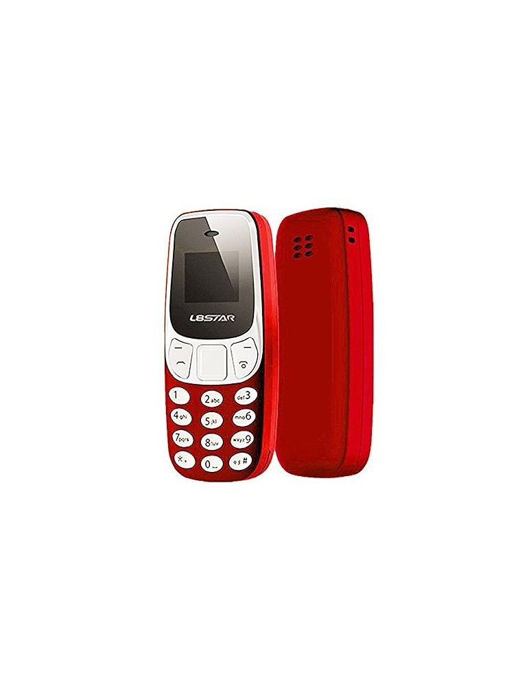 L8STAR BM10 Rosso Mini GSM Quad Band Dual Sim Bluetooth MP3