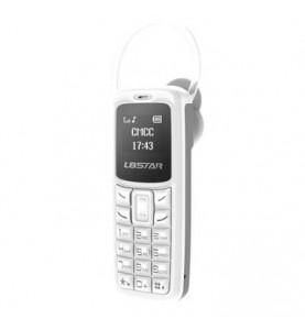 L8STAR BM30 Bianco Mini GSM Quad Band Dual Sim Bluetooth MP3 auricolare integrato