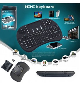 Mini Tastiera Wireless 2.4G con TouchPad usb battteria ricaricabile Litio