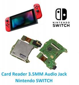 Slot Card Reader e 3.5MM Audio Jack Nintendo SWITCH