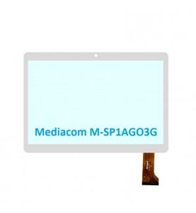 Touch Vetro 10.1 Mediacom M-SP1AGO3G WJ1091-FPC-V2.0 Bianco