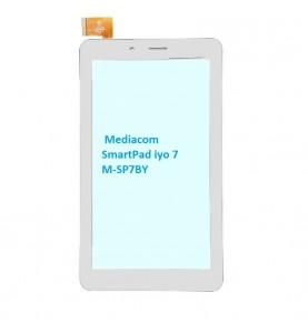 Touch Vetro 7 Mediacom SmartPad iyo 7 M-SP7BY M-SP7AY H06.3705.002 ORIGINALE Bianco