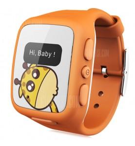 WHERECOME W268 Orologio GPS Localizzatore e chiamata d\'emergenza Arancione