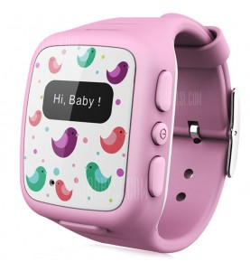 WHERECOME W268 Orologio GPS Localizzatore e chiamata d\'emergenza Rosa