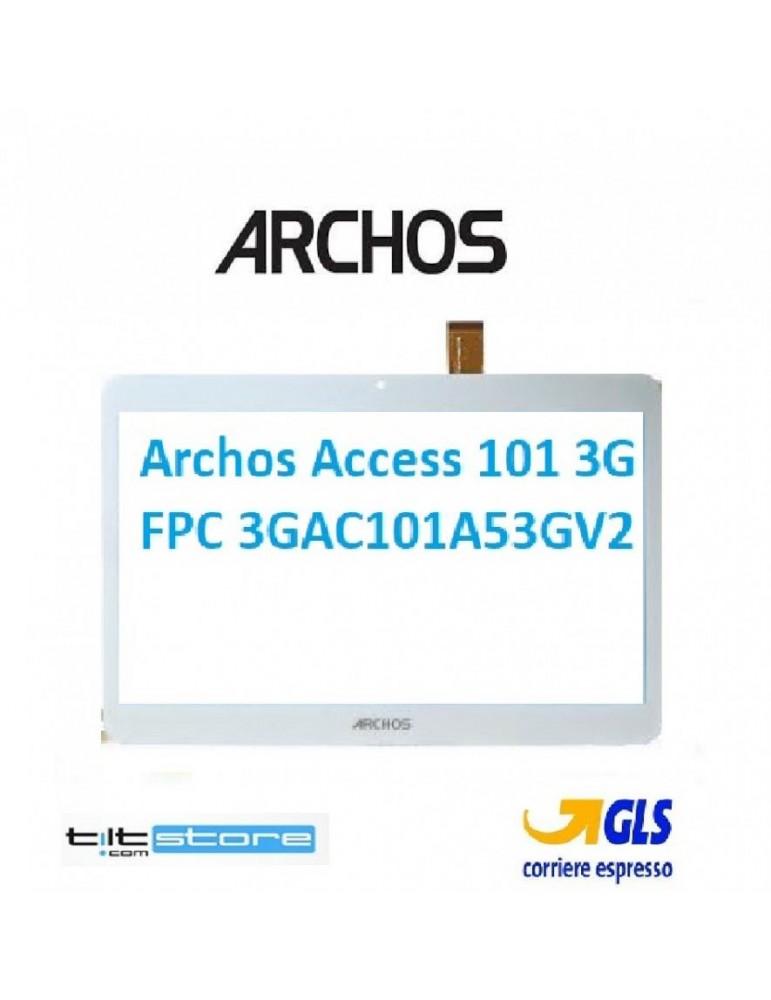 Touch Vetro Archos Access 101 3G FPC 3GAC101A53GV2 Flat Origin MJK-0884-V1FPC Bianco