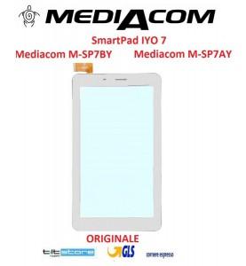 Touch Vetro Mediacom SmartPad IYO 7 Mediacom M-SP7BY Mediacom M-SP7AY H06.3705.002 ORIGINALE Bianco