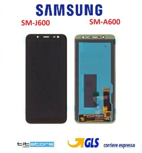 DISPLAY TOUCH LCD SAMSUNG J600 J6 2018 A6 2018 A600 ORIGINALE SERVICE PACK