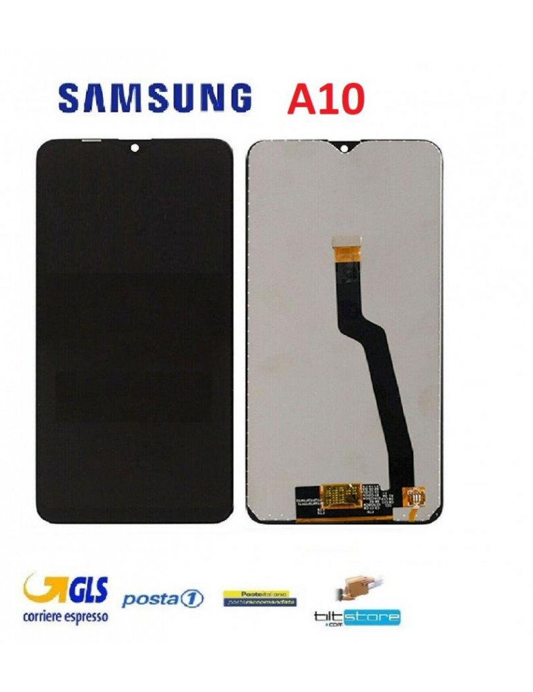 DISPLAY TOUCH LCD SAMSUNG A10 2019 A105 NO FRAME ORIGINALE SERVICE PACK A10 NERO