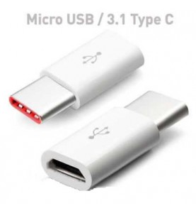 Adattatore Type-C a Micro USB Connettore ricarica microusb a tipo-c (Type C) Samsung & Huawei