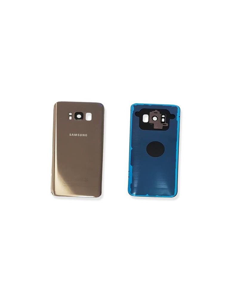 BACK COVER COPRIBATTERIA SAMSUNG S8 G950 Gold con vetrino fotocamera e biadesivo