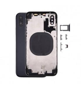 Back Cover iPhone X Completo di Telaio centrale NFC Vetrino fotocamera Nero