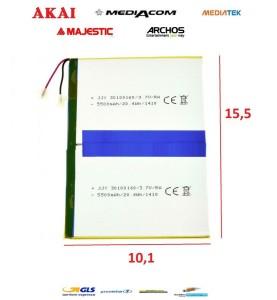 BATTERIA PER TABLET MEDIACOM ARCHOS CLEMENTONI CLEMPAD ALCATEL ETC