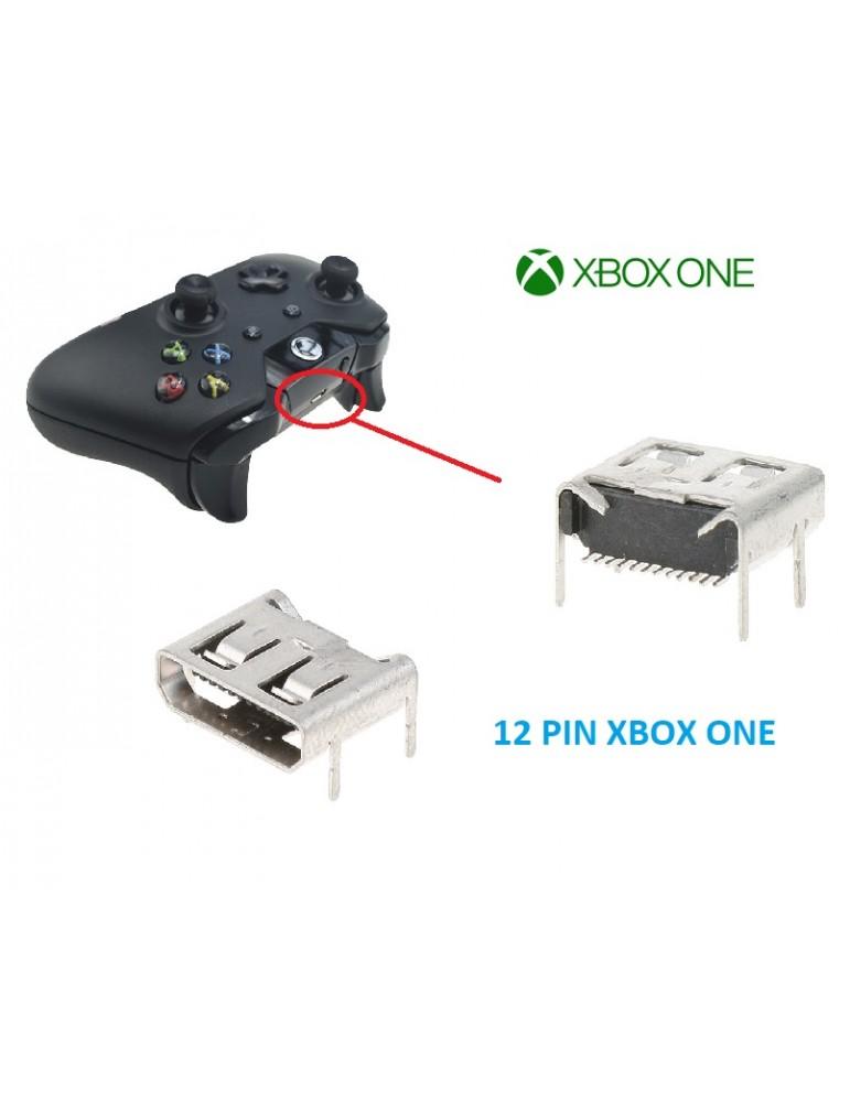 CONNETTORE MICRO USB CUFFIE JOYSTICK XBOX ONE TIPO 1 12 PIN